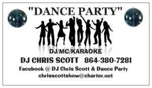 DJ CHRIS SCOTT'S DANCE PARTY DJ/MC/KARAOKE