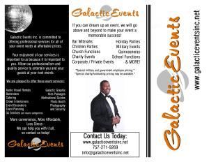 Galactic Events, Inc.- Raleigh- Durham