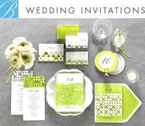 B Wedding Invitations
