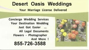 Desert Oasis Weddings