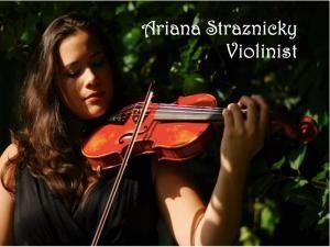 Ariana Straznicky, violinist