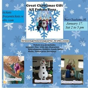 Frozen Princess Sisters Party w/Snowman O