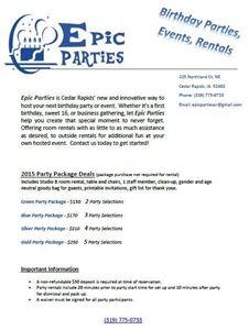 Epic Parties