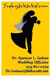 Wedding officiants in jacksonville fl for your marriage ceremony dr spencer l gaines wedding officiant ccuart Choice Image