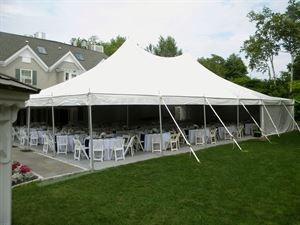 Tented area on lawn