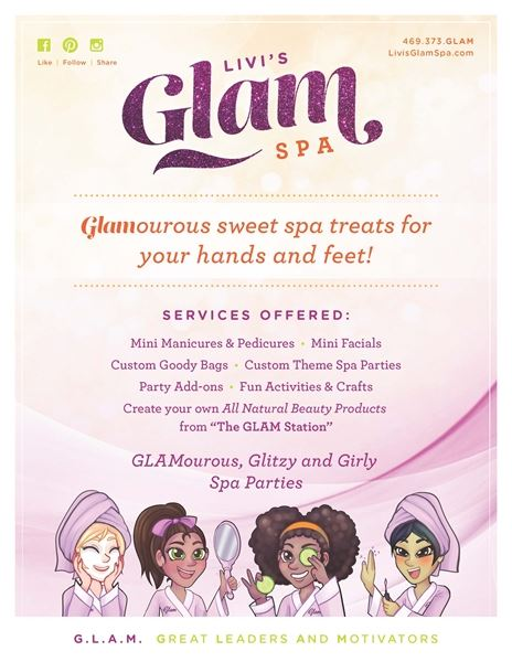 Livi's G.L.A.M. Spa (Mobile/ On-Site Spa Parties for Girls Age 4-14)