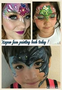 Kapow face painting