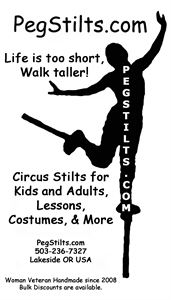 Peg Stilts for Kids and Adults, Custom Puppets, and Unique Art