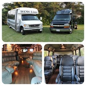 WOW Limo LLC ~ Luxury Coach Limo Party Bus & 13 Passenger Executive Mini Coach ~