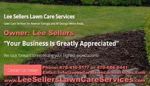 Lee Sellers Lawn Care Services Newnan Georgia and All Metro Areas