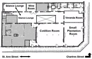 Second Floor Private Event Space Layout
