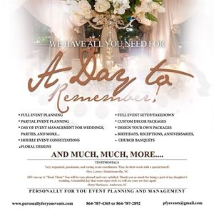Personally For You Event Planning and Management