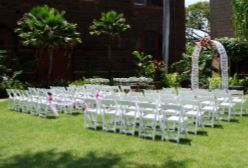 Muriel Flanders Garden Wedding Ceremony