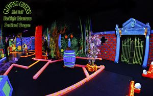 Glowing Greens Blacklight Miniature Golf - Island Adventures