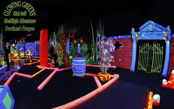 Glowing Greens Blacklight Miniature Golf Island