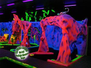 Glowing Greens Blacklight Miniature Golf: Alien Inavasion