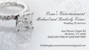Evans Entertainment Wedding/Dj Services