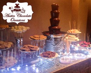 Austin Chocolate Occasions Chocolate Fountain & Candy Bar Buffet Catering