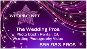WEDDING VIDEO SERVICE SACRAMENTO CA Visit WedPro.Net FREE QUOTE 855 933-PROS Photo Booth Rental DJ