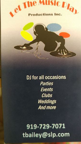 Let The Music Play Productions - Youngsville, NC - DJ