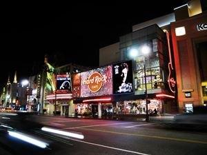 Hard Rock Cafe on Hollywood Blvd.