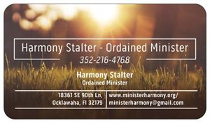 Harmony Stalter - Ordained Minister