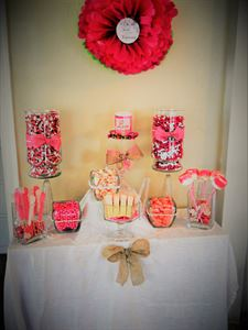 Sweet Heart Candy and Sweet Buffet