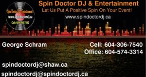 Spin Doctor DJ & Entertainment Services Vancouver