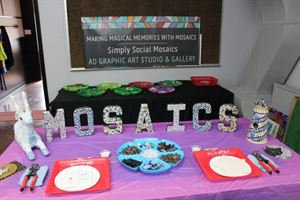Simply Social Mosaics Parties at AD Graphic Art Studio