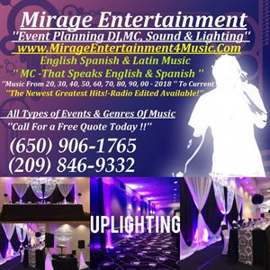 Mirage Entertainment DJ,MC Service