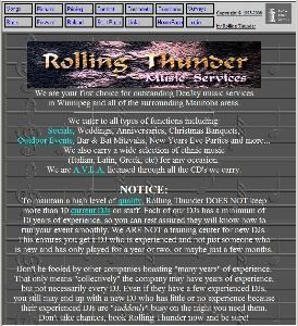 A Rolling Thunder Music Service