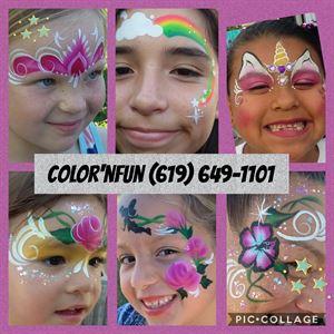 Color'nfun facepainting, glitter Bar