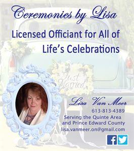 Lisa Van Meer - Wedding Officiant