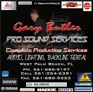 Gary Butler Pro Sound Services - Stuart