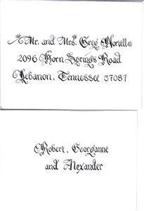 Carolina Calligraphy Services- Nationwide Service