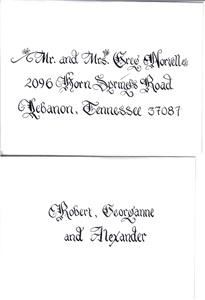 Carolina Calligraphy Services- Nationwide