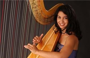 Harpist Dr Lizary Rodriguez Rios Hudson