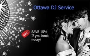 OTTAWA DJ SERVICE - Save 15% on Ottawa Wedding DJs