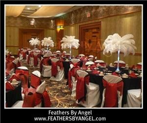 feathers by angel ostrich feather centerpieces miami miami fl