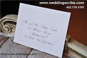 Calligraphy for Weddings by Anne Sheedy - Omaha