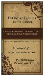 Ornate Occasions By DeOndre Tamhas