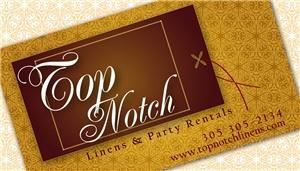 Top Notch Linens & Party Rentals