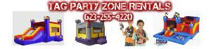 TAG PARTY INFLATABLE BOUNCE HOUSE RENTALS