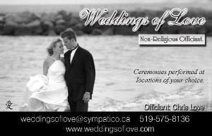 Weddings Of Love - Non-Religious Officiant