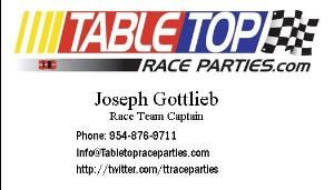 Table Top Race Parties