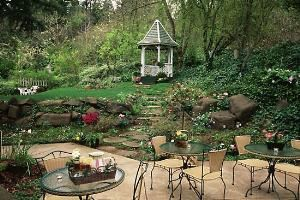 Garden with Gazebo