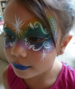 Starburst Face Painting