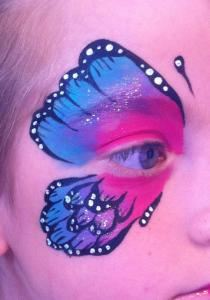 The Painted Lady Face Art