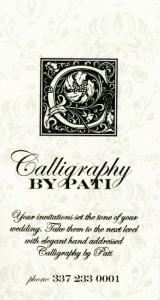 Calligraphy by Pati
