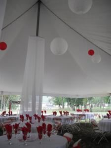 Advantage Event tent rental/decor